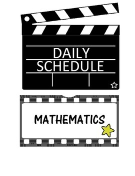 Daily Schedule Movie Theme (Editable)