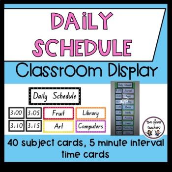 Daily Schedule Organiser - Polka Dot - Classroom Management