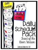 Daily Schedule Pack (Front Of Board Version)- Autism Classroom