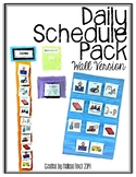 Daily Schedule Pack (wall schedule version)- Autism Classroom