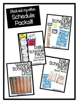 Daily Schedule Pack (individualized binder version)- Autism Classroom