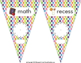 Daily Schedule Pennants!  Back to school craft activity