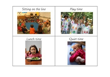 Back to School Daily Routine Picture Cards (Montessori / conventional classroom)