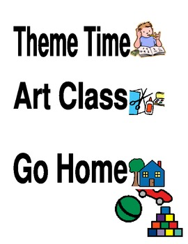 Daily Schedule Picture/Words using Boardmaker Pictures