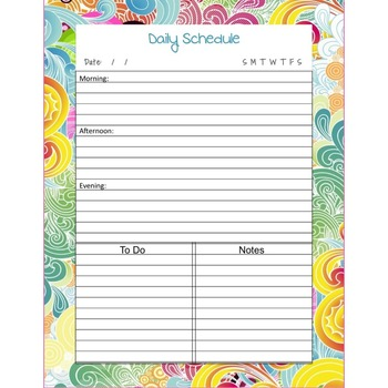 Daily Schedule Planner Pages