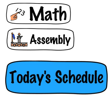 Daily Schedule Printable: by subject cards