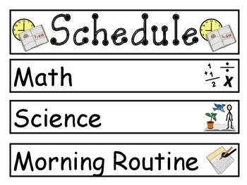 Daily Schedule Printout Pieces