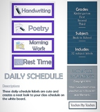 Daily Schedule - Purple