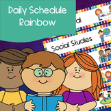 Daily Schedule   Rainbow Squares   Visual Schedule