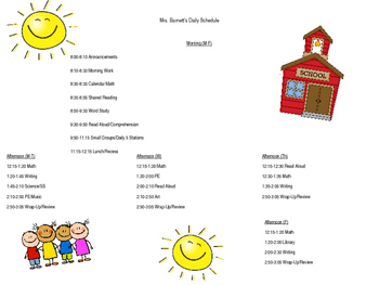 Editable Daily Schedule Sheet