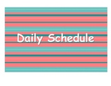 Daily Schedule Signs