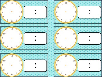 Daily Schedule Signs - aqua dots