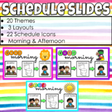 Daily Schedule Slides (Morning & Afternoon)