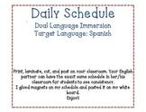Daily Schedule Spanish and English DLI