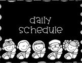Daily Schedule Subject Signs Plain Black Clean Look