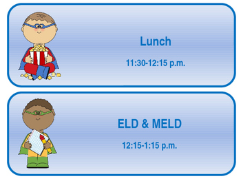 Daily Schedule Superhero Theme Editable
