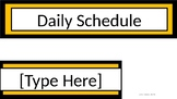 Daily Schedule & Table Numbers - Charlie Brown Tribute Colors