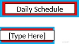 Daily Schedule & Table Numbers - Dr. Seuss Tribute Colors