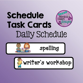 Daily Schedule Task Cards