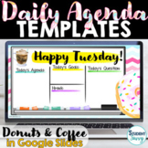 Daily Schedule Template | Daily Agenda Google Slides DONUT