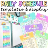 Daily Schedule Template Simple Clean Modern EDITABLE