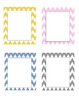 Daily Schedule Time Cards - Chevron Theme