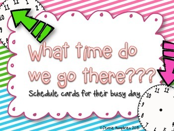Daily Schedule Cards Chevron