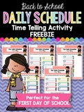 Daily Schedule Time Telling Activity FREEBIE: Back to School Made Simple