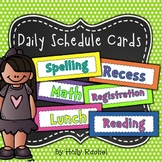 Daily Schedule / Timetable Cards