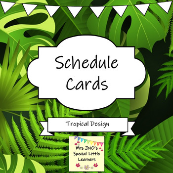 Daily Schedule / Timetable Cards ~ Tropical Design ~ Editable