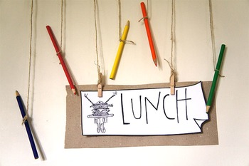 "Daily Schedule Title Card ""Lunch"""