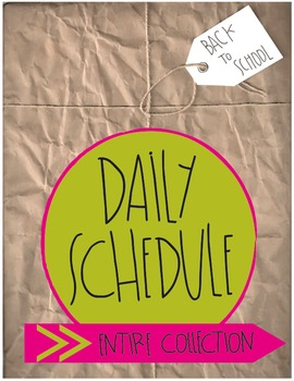 Daily Schedule Title Cards: The ENTIRE COLLECTION