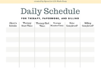Daily Schedule Tracker for Clinicians