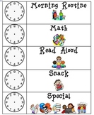 Daily Schedule Visual Cards with Clocks to show Time
