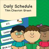 Daily Schedule   Visual Schedule   Green Thin Chevron