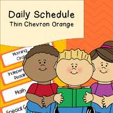 Daily Schedule   Visual Schedule   Orange Thin Chevron