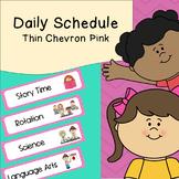 Daily Schedule   Visual Schedule   Pink Thin Chevron