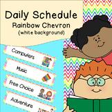 Daily Schedule   Visual Schedule   Rainbow Chevron with White Background