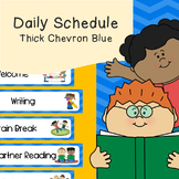 Daily Schedule   Visual Schedule   Thick Blue Chevron