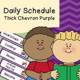 Daily Schedule   Visual Schedule   Thick Purple Chevron Pattern