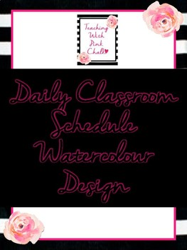 Daily Schedule- Watercolour Design
