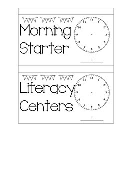 Daily Schedule With Blank Clock