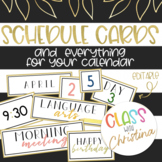 Daily Schedule and Calendar Cards [EDITABLE]