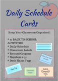 Daily Schedule and Classroom Labels!