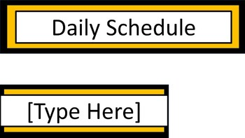Daily Schedule and Group Labels - Black & Gold
