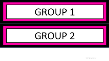 Daily Schedule and Group Labels - Black & Pink