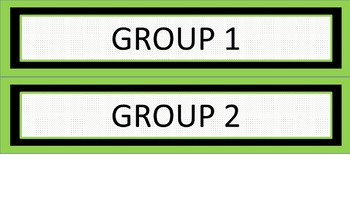 Daily Schedule and Group Labels - Lime & White Mini-Polka Dots