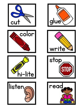 Daily Schedule and Visual Direction Cards