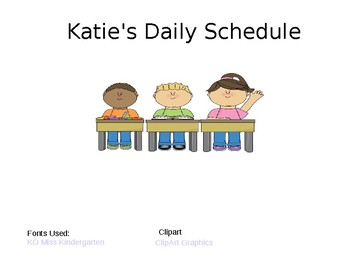 Daily Schedule for Pocket Charts [editable]