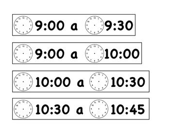 Daily Schedule in French
